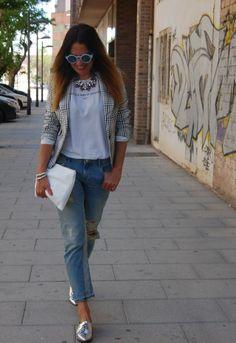 Angel Schlesser  Blazers, Zara  Camisetas and Zara  Jeans