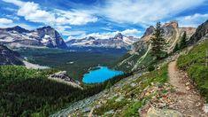 Kanada, Kolumbia Brytyjska, Park Narodowy Yoho, Jezioro O Hara, Góry Canadian Rockies, Las, Chmury