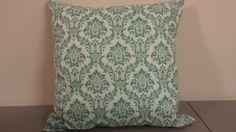 Decorative Pillows green damask handmade INSERT INCLUDED by AlexiasDecor on Etsy, $19.99