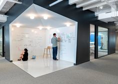 Freely accessible whiteboard area, brainstorming space?