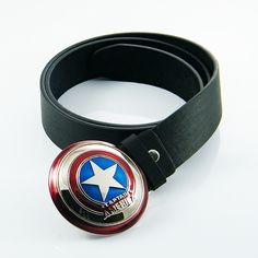Hot Captain America Star Shield Belt Buckle Avengers Marvel Comics Super Hero | eBay