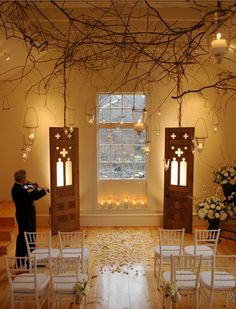 wedding aisle #4. really simple and earthy, but nonetheless unique and adorable