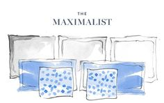 How to arrange your pillows on your bed if you're a maximalist. This works best on a king size bed.