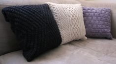 Ravelry: Project Gallery for Cuddle up cushions pattern by Alex Lawson
