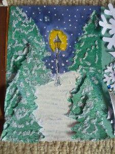 Narnia card making, from MrsBeez craft blog.