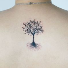 Olive Tree Tattoo Which Looks Like Hair