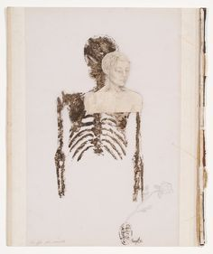 Shany van den Berg's books and skeletons