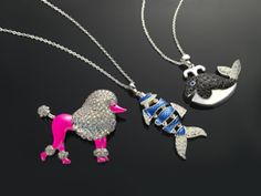 """My favourite """"cute critters"""" ~ Pink Poodle + Funky Fish + Jolly Whale ~ always make me smile! Martine xx"""