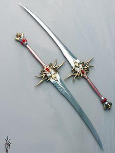Dual Blade Katana   HI!!! Can anyone create these babies? They look amazing! I hope ...