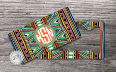 Set of TWO  Aztec License plate and License Plate by MonogramCase