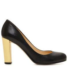 Kate Spade Leslie Pump, Black & Gold, Size 6