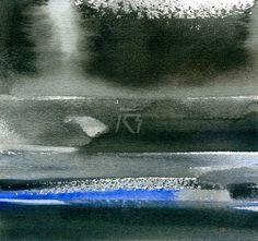 GRISAZUR: Acuarela sobre papel, 16,5x17,5 cm.Abr. 2, 2015