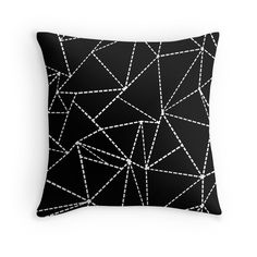 Abstract Dotted Lines Black