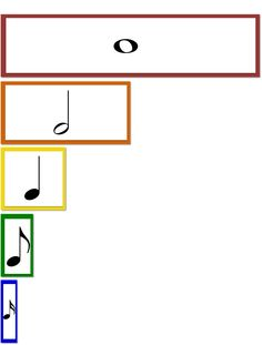 Beth's Music Notes-cards that demonstrate note length.
