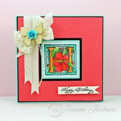 Jeanne Jachna used Serendipity Stamps Floral Alphabet Rubber Stamp set and Everyday Words rubber stamp to make her card.