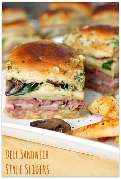 Deli Sandwich Style Sliders made with Sprouts Farmers Market Brand Sweet Hawaiian Rolls AD   Mama Harris' Kitchen