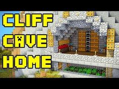 How to Build a Cliff House in Minecraft (Tutorial)   Minecraft Stream