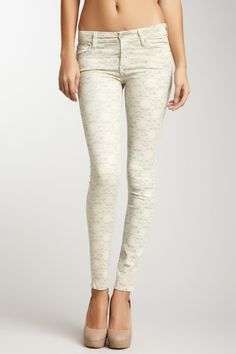 7 For All Mankind, Lace Print Skinny