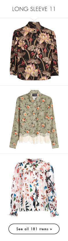 """LONG SLEEVE 11"" by noconfessions ❤ liked on Polyvore featuring tops, blouses, shirts, loewe, black print, tailored shirts, floral blouse, print shirts, pattern shirt and boho shirts"