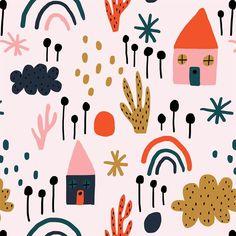 jeninuferu Floral Illustrations, Graphic Illustration, Kids Prints, Wall Art Prints, Cool Patterns, Print Patterns, Print Wallpaper, Abstract Shapes, Stuffed Animal Patterns