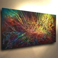 original PAINTING MODERN abstract Contemporary ART DECOR Mix Lang cert. unique #Expressionism