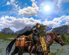 great rohirrim battle outfit and war steed match by Caylean