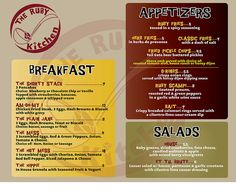 menu design (the ruby kitchen) by moresUper, via Flickr