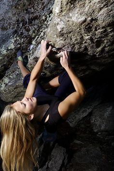 "Sasha DiGiulian. ""Triple Crown"" Upper body strength to rock climb!"