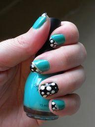 My nail polish design today:)