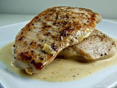 Pork Chops au Poivre. Easy, elegant, and delicious.