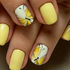 Cute Spring Nails, Summer Nails, Cute Nails, Pretty Nails, My Nails, Green Nail Designs, Nail Designs Spring, Nail Art Designs, Dragonfly Nail Art