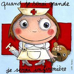 """Tableau d'Isabelle Kessedjian """"Quand je serai grande, je serai Infirmière"""" - Le Coin des Créateurs"""