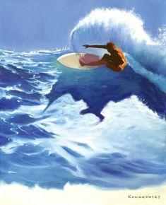 Wade Koniakowsky - Vibrant Ocean Art For Your Home or Office Surfboard Art, Skateboard Art, Wal Art, Hawaiian Art, Art Sculpture, Tropical Art, True Art, Ocean Art, Beach Art