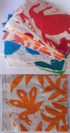 Otomi Embroidery Swatches