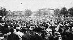 Great Depression in Canada Pictures: Demonstration During the Great Depression in Canada