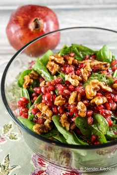 Pomegranate Balsamic Vinaigrette - Slender Kitchen. Works for Clean Eating, Gluten Free, Paleo, Vegan, Vegetarian and Weight Watchers® diets. 73 Calories.