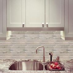 Countertop Paint Home Depot Canada : ... Strip Wooden White Limestone Mosaic - YUSSAG0005 - Home Depot Canada
