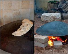 saj bread in the kitchen