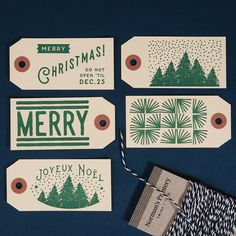 Complete the package with these classic style gift tags! Goes great with all of…