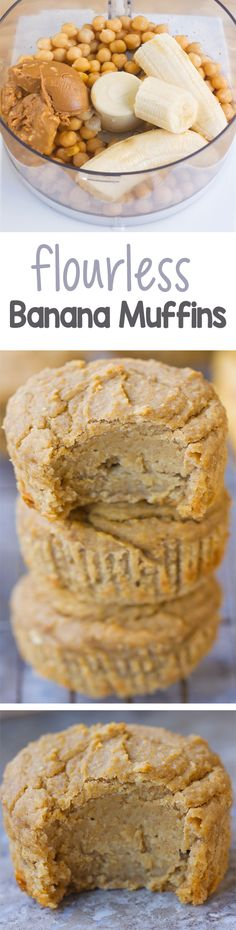 This is one of those MUST TRY recipes that you have to make to believe. The flourless muffins are insane!