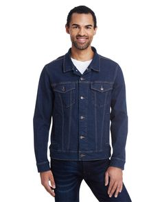 The classic look of a simple denim jacket is a style staple, and with this affordable and comfortable Threadfast Unisex Denim Jacket, you can have the look all year long.