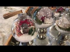 These beautiful winter Scenery Ornaments were so easy to make and look very high end with a low budget! Diy Photo Ornaments, Photo Christmas Ornaments, Christmas Crafts To Make, Dollar Tree Christmas, Christmas Balls, Christmas Projects, Christmas Ideas, Christmas Decorations, Christmas Store