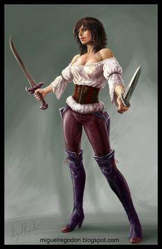 Asha Greyjoy by Miguel Regodón Harkness