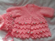 Looking for your next project? You're going to love LAYERS OF LACE COAT AND BONNET by designer nellsbabyknits.
