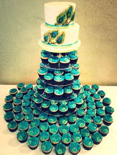 1000 Ideas About Peacock Wedding Cake On Pinterest