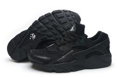 f239326c2d14 WMNS Nike Huarache Blackout Safari Black Snake Cheap Sneakers