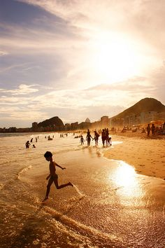 Copacabana Beach in Rio de Janeiro, Brazil, I've seen so many pictures of this beach, when can I go? Places Around The World, Oh The Places You'll Go, Travel Around The World, Places To Travel, Places To Visit, Around The Worlds, Travel Destinations, Copacabana Beach, Rio Brazil