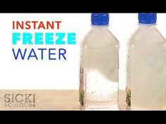 Instant-Freeze Water - The Lab Water Science Experiments, Science Activities For Kids, Science Party, Science Kits, Science Fair, Science Videos, Science Curriculum, Physical Science, Winter Activities