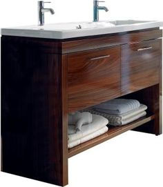 """For bath 2. With a single sink, in white. Duravit 2nd Floor 46-1/4"""" Vanity"""