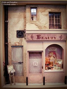 Wonderful realism on this Beauty shop that appears to have been on display at the 2010 Seoul miniature fair
